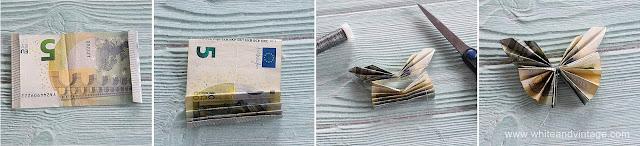 Geldscheine falten als Schmetterling