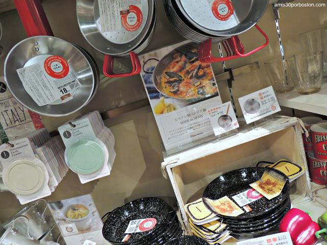 Paelleras en Tienda Española en Tokio