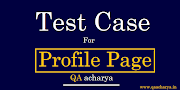 Test Cases for Profile Page and Profile Photo Upload