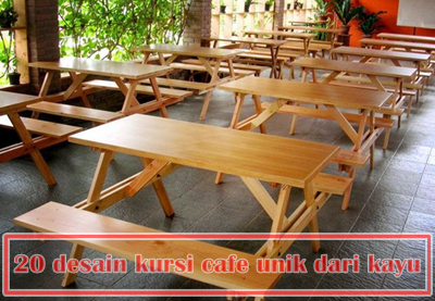 20 ide desain kursi cafe unik dari kayu