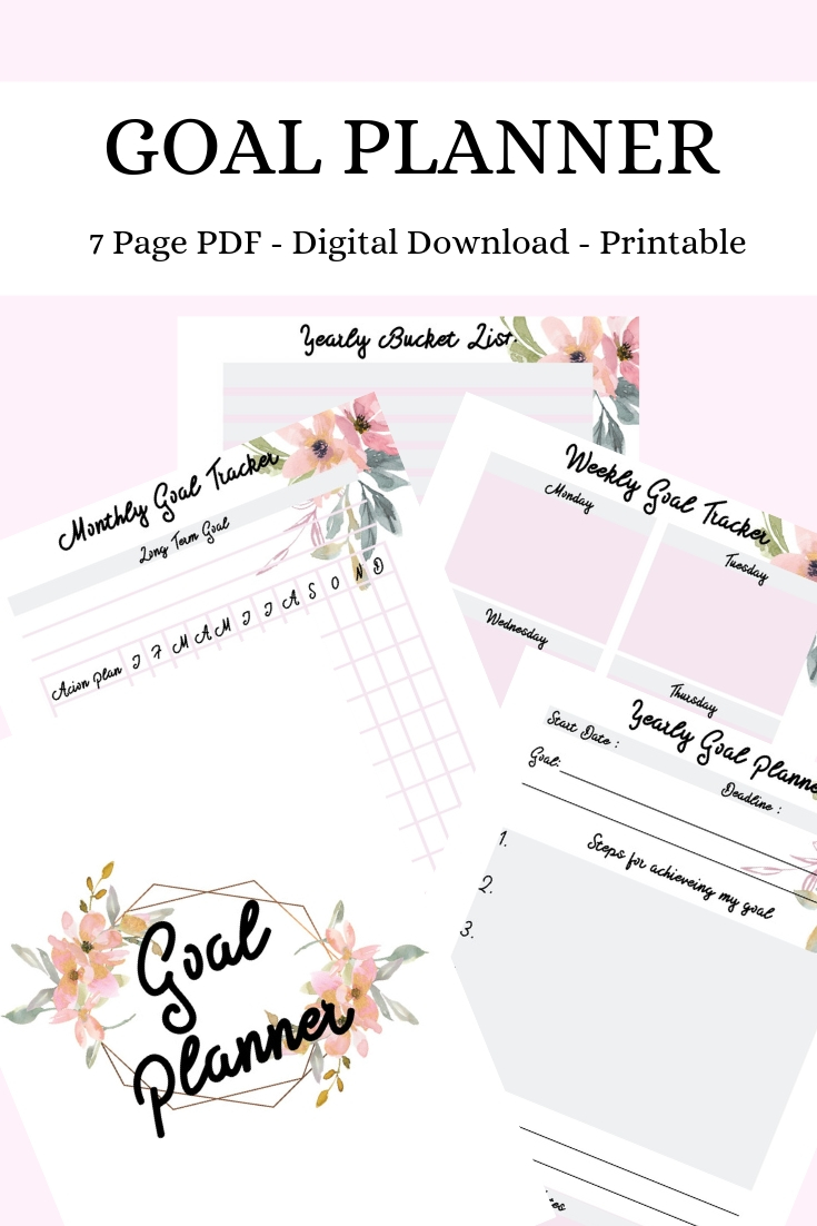 goal planner pinterest graphic