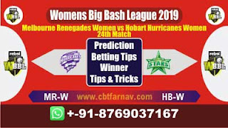 WBBL 2019 MRW vs HBW 24th Match Prediction Today Womens Big Bash League 2019