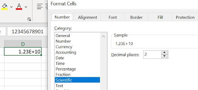 Scientific format