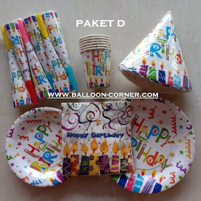 Paket HAPPY BIRTHDAY Party Set (MURAH)