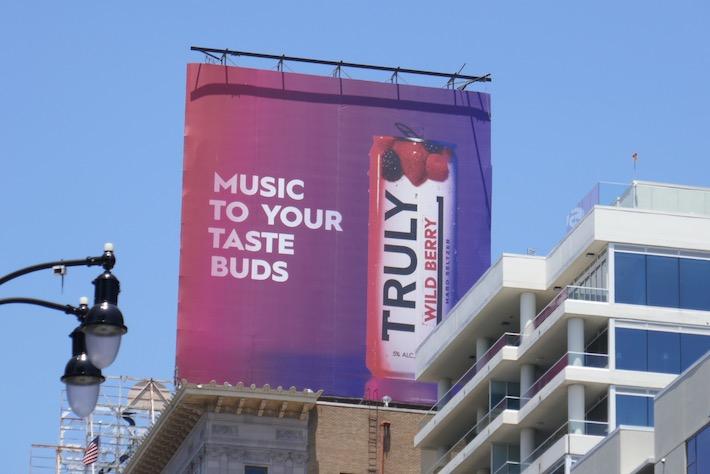Music to taste buds Truly Wild Berry billboard