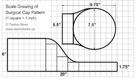 Scale Diagram of Surgical Cap Pattern