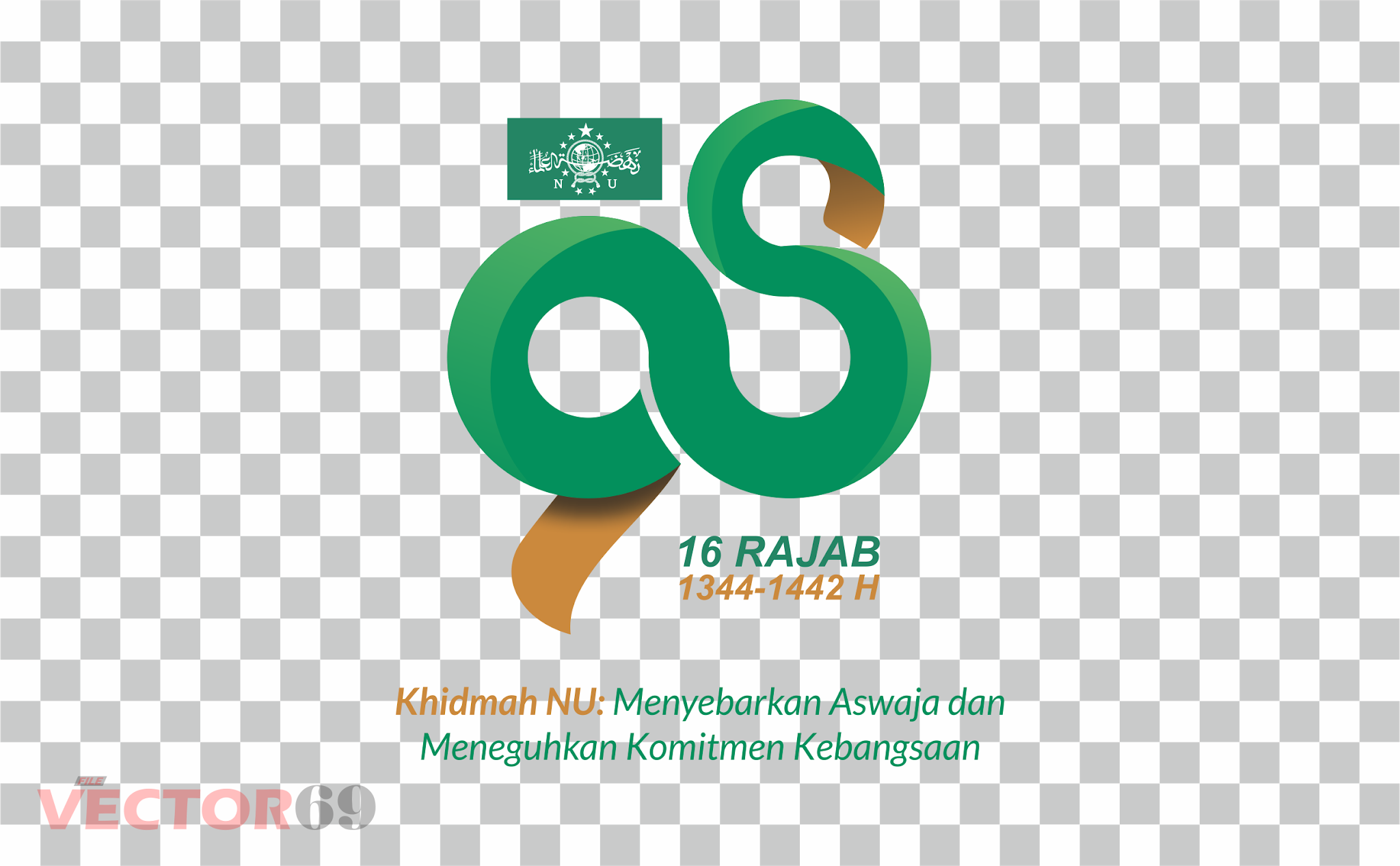 Harlah NU ke-98 16 Rajab 1442 H Tahun 2021 Logo - Download Vector File PNG (Portable Network Graphics)