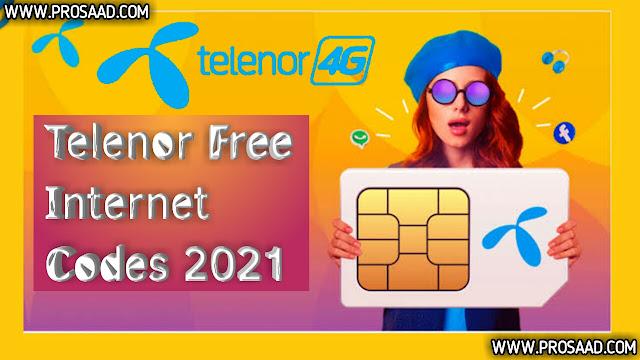 Telenor Free Internet Codes 2021