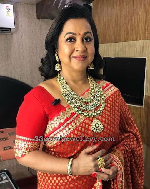 Radhika Meena Work Kundan Set