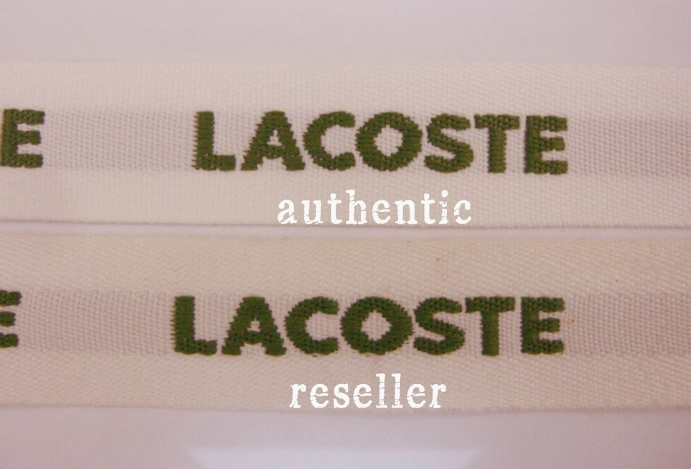 f839866d65d Each Lacoste Concept bag comes with a white printed ribbon that binds the  bag when folded. The ribbon is embroidered with the brand name.