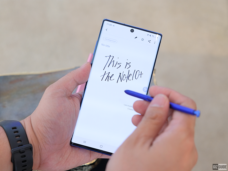 This is the Samsung Galaxy Note10+ along with the more productive S Pen