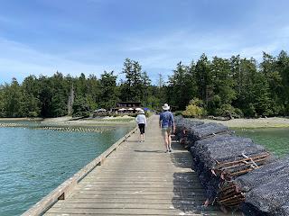 Walking down the dock at Westcott Bay.