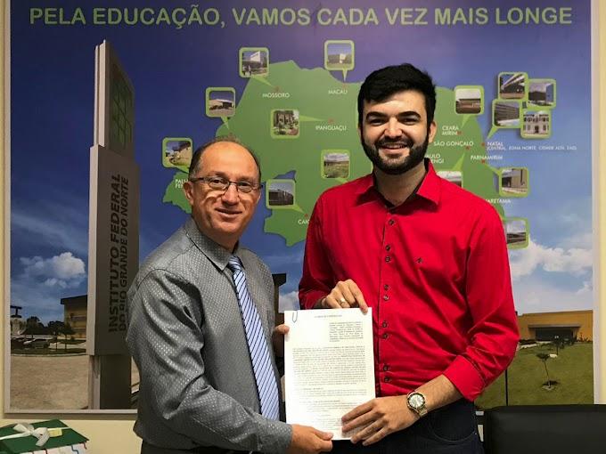 Reitor Wyllys Tabosa assinará termo de instalação do polo IFRN-EaD em Jardim do Seridó