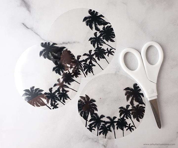 Scissors with Palm Tree Printable
