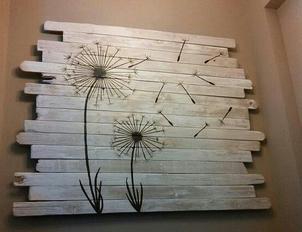 hiasan dinding sederhana dari kayu