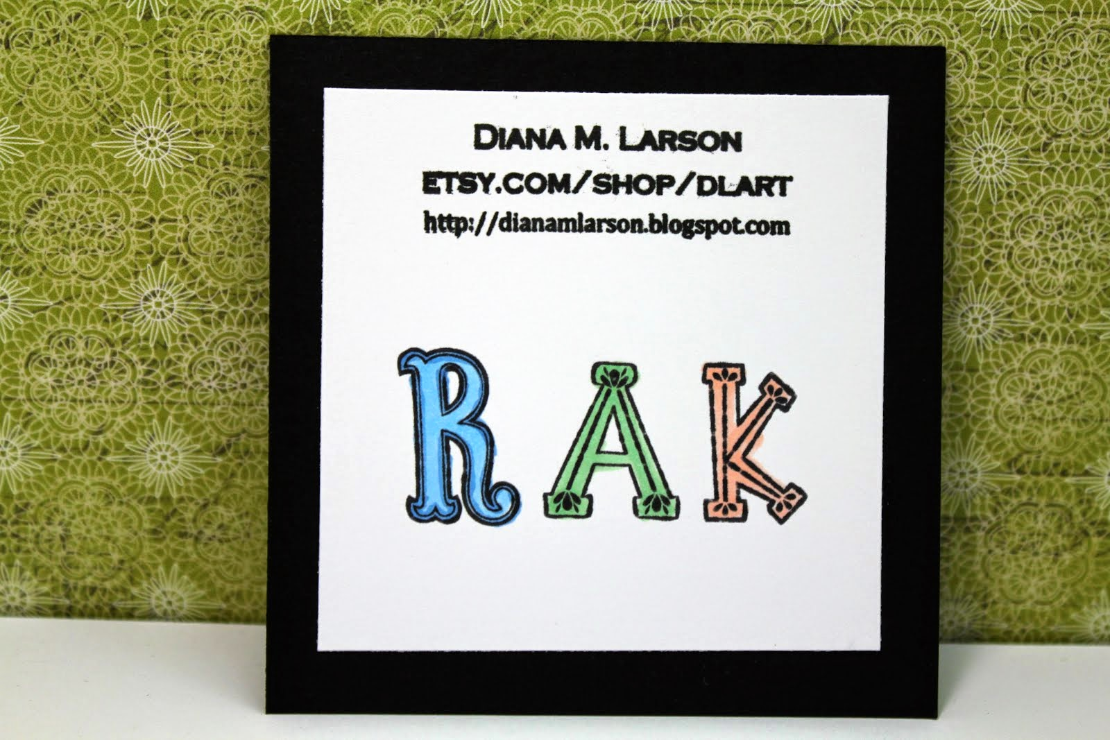 Sign up for  Diana's RAK list