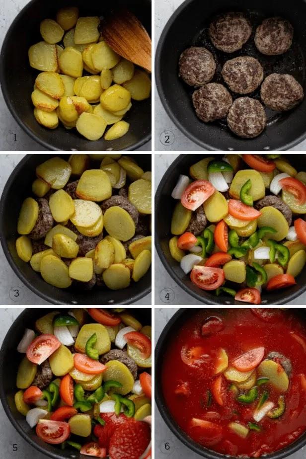 Kafta and Potato Stew