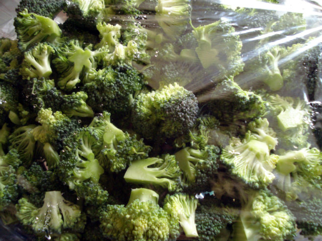 broccoli florets al dente