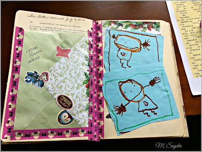 July 9, 2019 Crafting my happy mail from today into the journal.