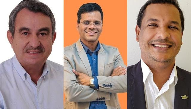 Beto da Sensação (Republicanos), Inaldo Lins (PSD), Claudio da Cooates (PSL)