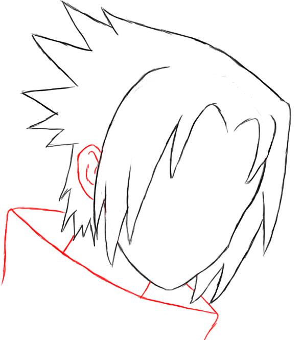 Anime Drawings Sasuke Ruang Belajar Siswa Kelas 6