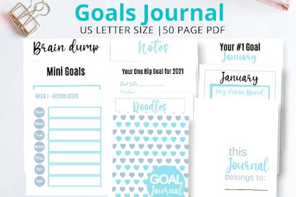 reach your goals, goal setting journal