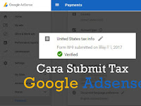 Cara Submit Tax Akun Google Adsense USA Terbaru + Jasa Submit
