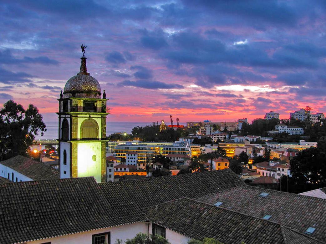 sunset with Santa Clara convent
