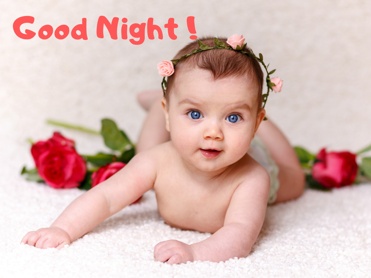good night baby images with quotes