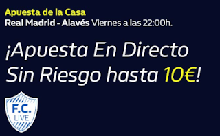 william hill Apuesta de la Casa Real Madrid vs Alavés 10-7-2020