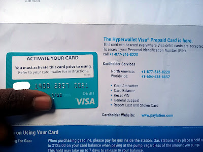 Power Lead System Paylution Visa Prepaid Card