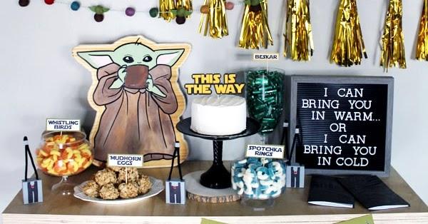 The Child Inspired Centerpiece Sticks  Mandalorian Party  Baby Yoda Decorations