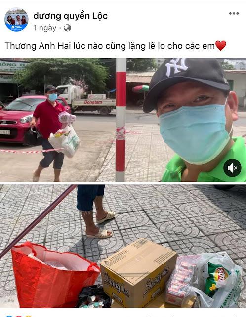 4 MC Quyền Linh đi chợ giúp em trai Đạo diễn Quyền Lộc trong khu vực phong tỏa