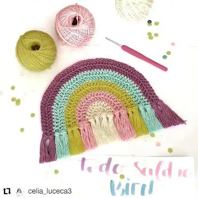 Tutorial Arcoiris a Crochet