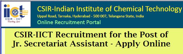 CSIR-IICT Hyderabad Recruitment Notification