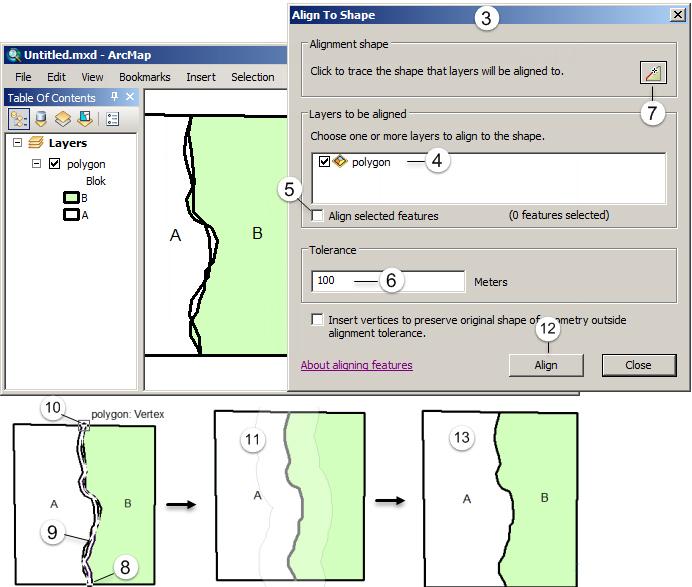 Editing Fitur pada ArcGIS (Tingkat Lanjut) - Align to shape