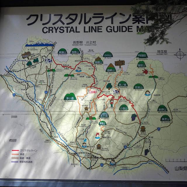 クリスタルライン 案内図