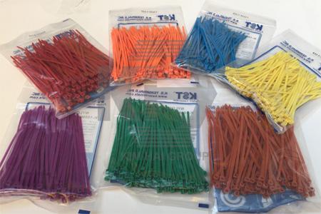 dây thít nhựa màu đánh dấu gia cầm, phân loại hàng