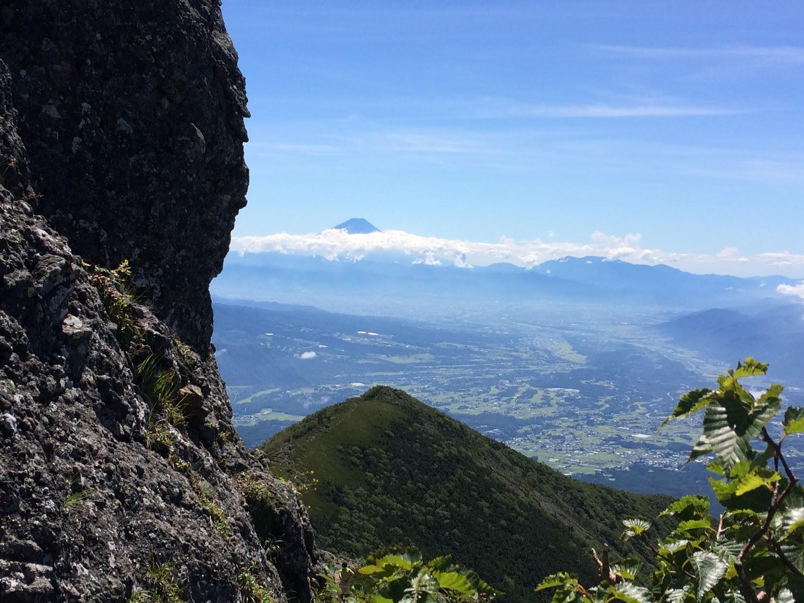 権現岳から富士山