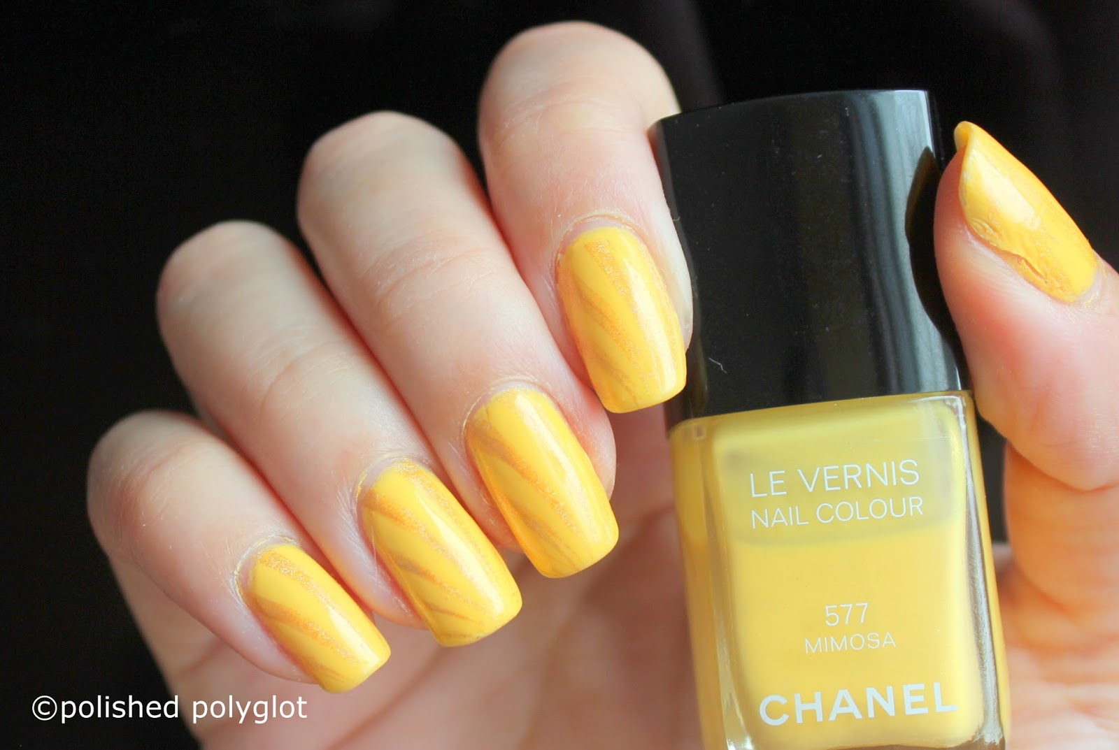 Yellow Nail Polish Art