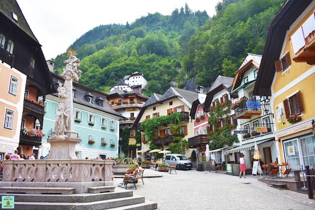 Plaza central de Hallstatt, Austria