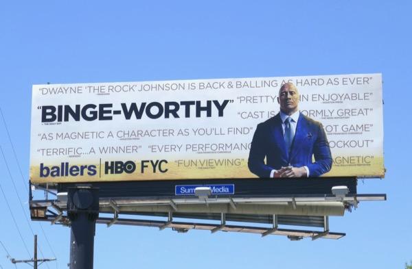 Ballers Binge-worthy 2018 Emmy FYC billboard