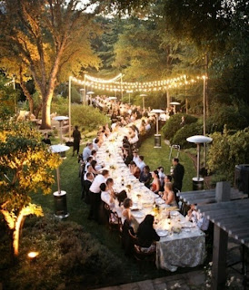 long table wedding layout