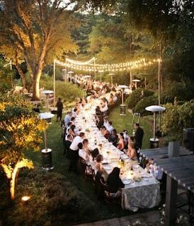 long table wedding layout