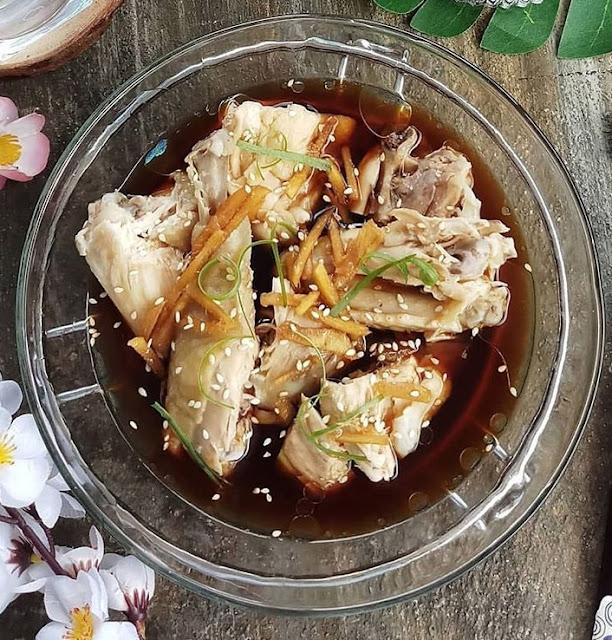 Lezatnya Masak Ayam Rebus Kuah Saus Tiram