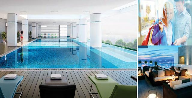 Bể bơi 4 mùa được thiết kế sang trọng với những góc view đẹp
