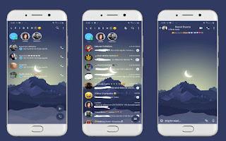 Mountain & Moon Theme For YOWhatsApp & Fouad WhatsApp By Leidiane