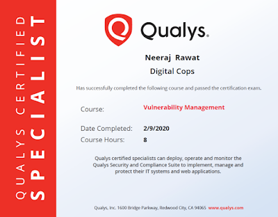 Qualys Vulnerability Management Certified Specialist