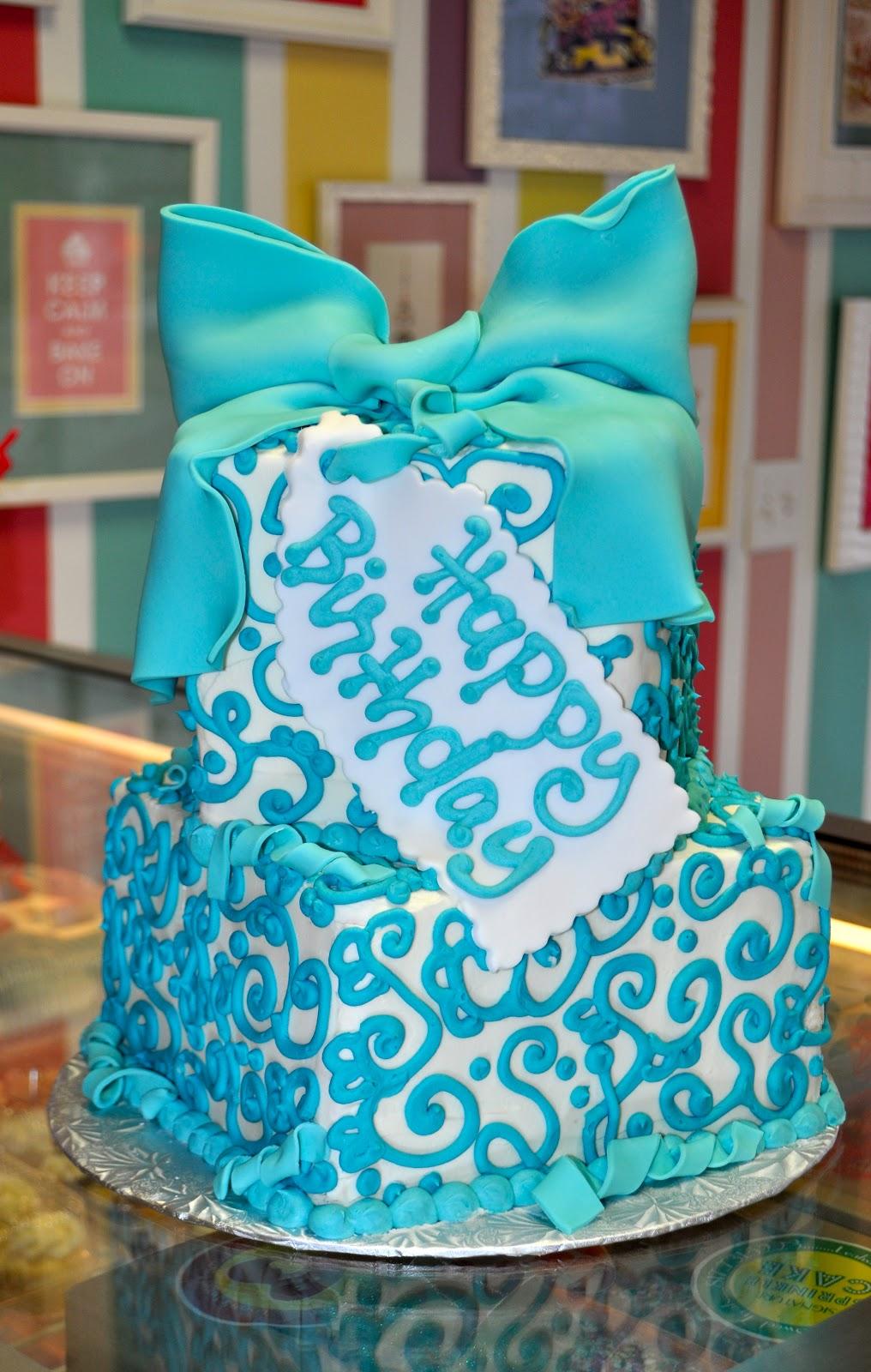 Coolest Cupcakes Tiffany Blue Birthday Cake