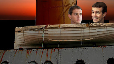 España se hunde. Pedro Sánchez. Hispanic.España. Titanic